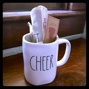 Rae Dunn cheer mug & tea towel gift set
